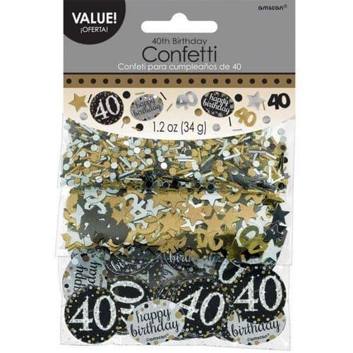 Gold Celebration 40th Confetti 34g