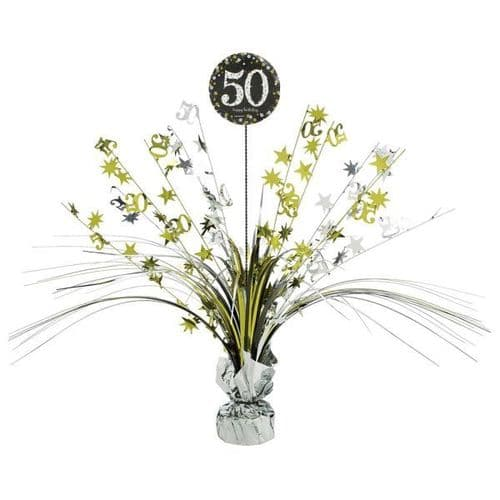 Gold Celebration 50th Centrepiece Spray 33cm