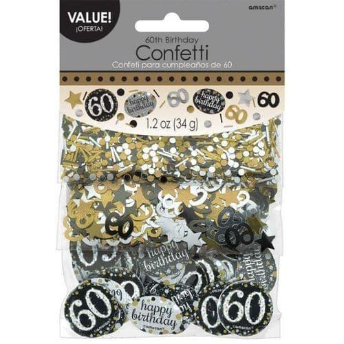 Gold Celebration 60th Confetti 34g