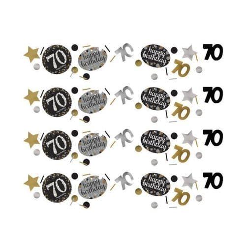 Gold Celebration 70th Confetti 34g