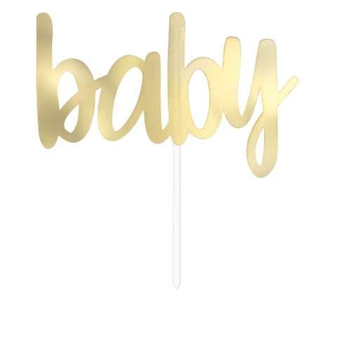 Gold Foil Baby Shower Cake Topper