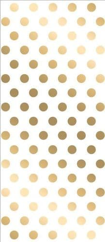 Gold Polka Dot Cello Bags with Twist Ties 20's