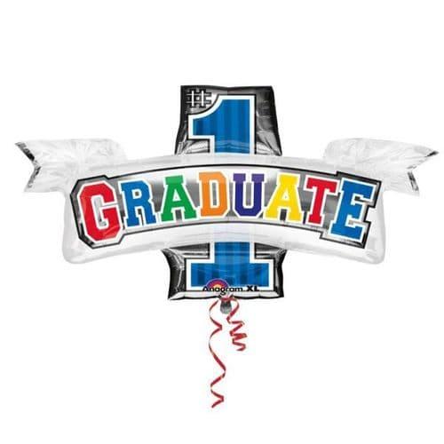 "Graduate SuperShape Foil Balloon 38"" x 26"""
