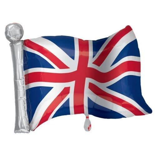 "Great Britain Flag SuperShape Foil Balloon  22"" x 27"""