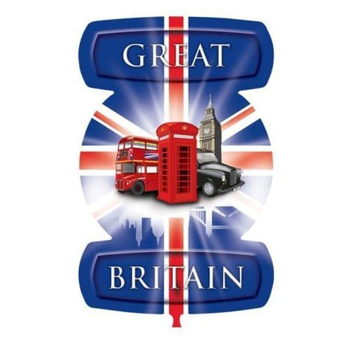 """Great Britain London Icons SuperShape Foil Balloon 24"""" x 21"""""""