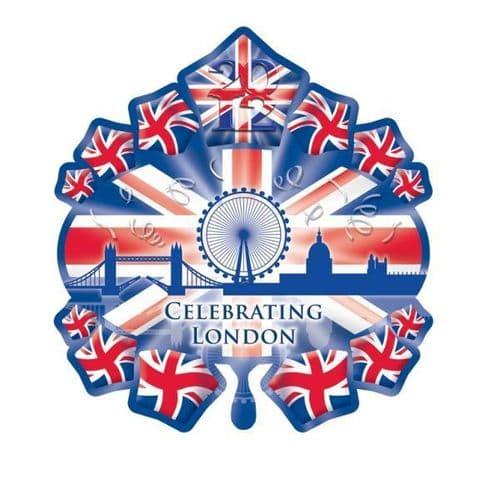 "Great Britain Starburst Skyline SuperShape Foil Balloon 28"" x 31"""