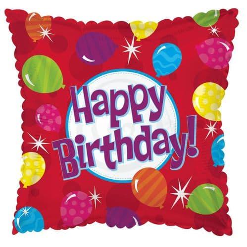 Happy Birthday Bright Balloons Foil Balloon