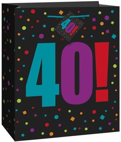 Happy Birthday Cheer 40 Giftbag-Large