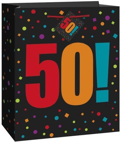 Happy Birthday Cheer 50th Giftbag-Large