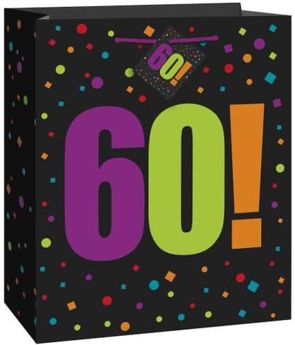 Happy Birthday Cheer 60th Giftbag-Large