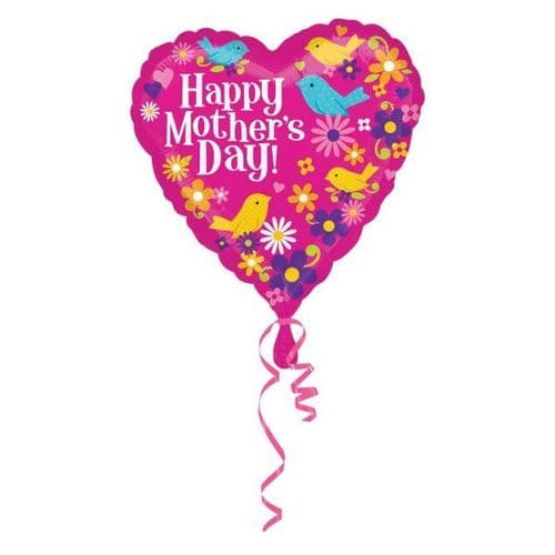 Happy Mother's Day Birds Foil Balloon