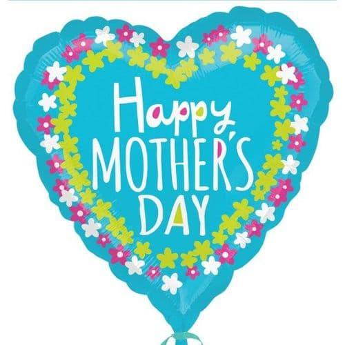 Happy Mother's Day Flower Frame Foil Balloon
