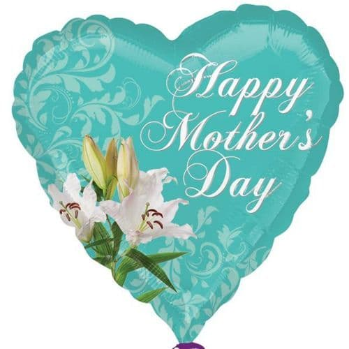 Happy Mother's Day Lily Foil Balloon