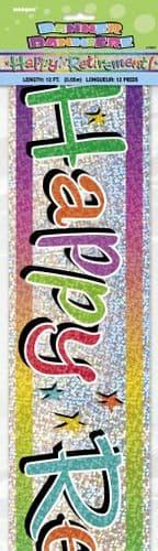 Happy Retirement Prism Banner-12Ft
