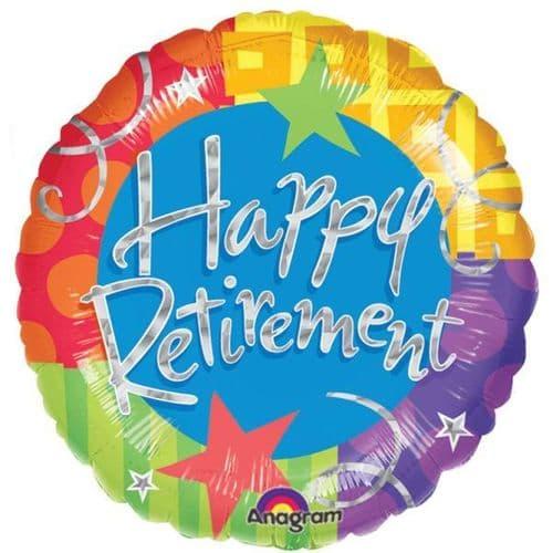 Happy Retirement Prismatic Foil Balloon