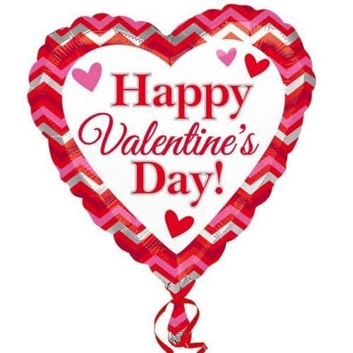 Happy Valentine's day Chevron Standard Foil Balloon