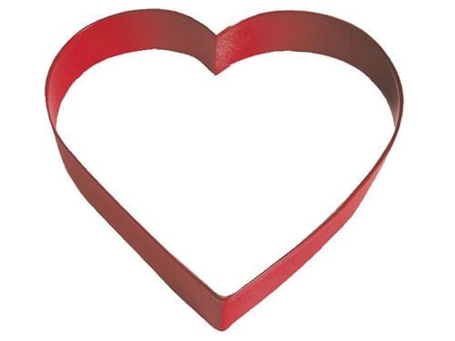 Heart Poly-Resin Coated Cookie Cutter Red Large