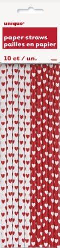 Hearts Paper Straws 10pc