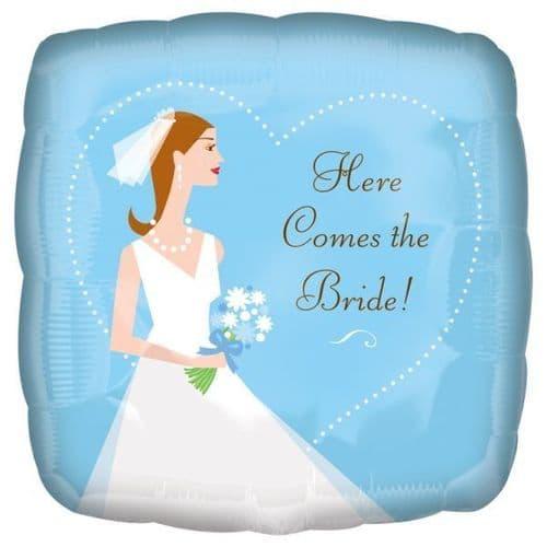 "Here Comes the Bride Foil Balloon 18"""