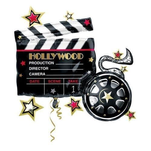 "Hollywood Clapboard SuperShape Foil Balloon 30"" x 29"""