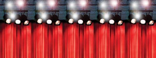 Hollywood Lights Easy Stick Top Half Room Decorating Panel Top 4ft x 10ft