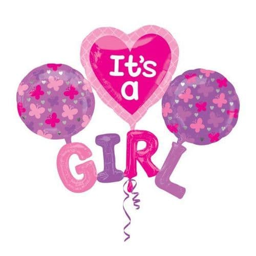 "It's A G-I-R-L Multi Foil Balloons 51"" x 40"""