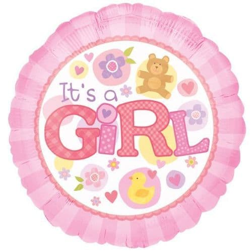 "It's a Girl Pink  Foil Balloon 18"""