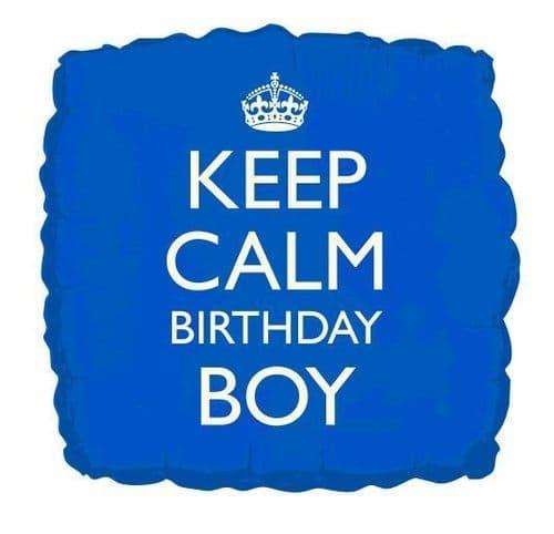 Keep Calm Birthday Boy Helium Foil Balloon