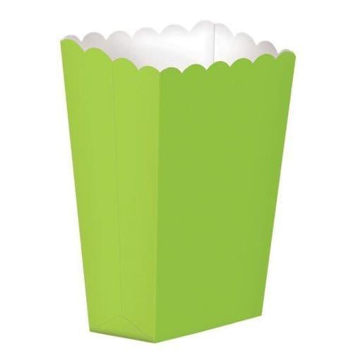 Kiwi Green Large Paper Popcorn Boxes/10