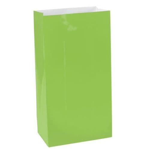 Kiwi Green Mini Paper Bags 12 per pack.