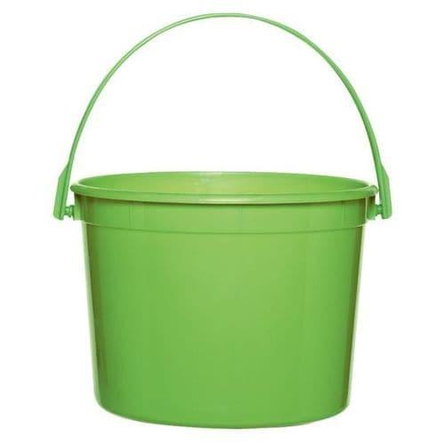 Kiwi Green Plastic Bucket 11cm h x 13cm dia