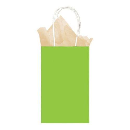 Kiwi Green Small Gift Paper Bags