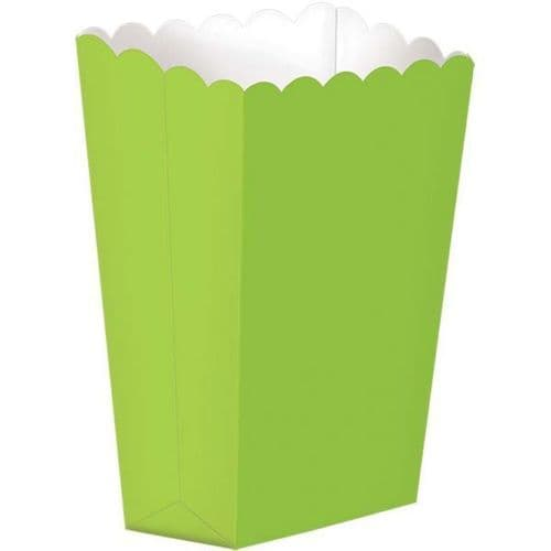 Kiwi Green Small Paper Popcorn Boxes pack of 5.