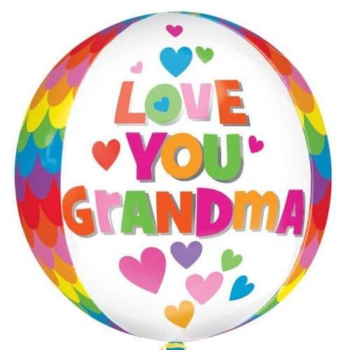 Love you Grandma Orbz Foil Balloon