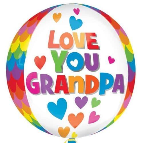 "Love you Grandpa Orbz Foil Balloon 15"" x 16"""