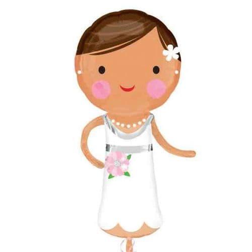 "Lovely Bride SuperShape Foil Balloon 19"" x 40"""