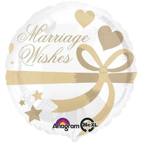 Marriage Wishes Standard Foil Balloon