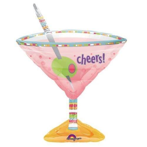 "Martini Glass Foil Balloon  24"" x 33"""