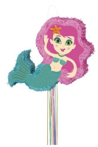 Mermaid Shaped Pull Pinata