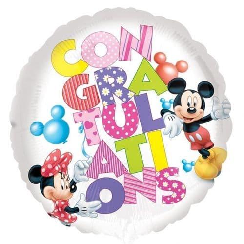 Mickey & Minnie Congratulations Foil Balloon