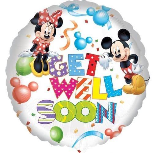 Mickey & Minnie Get Well Foil Balloon