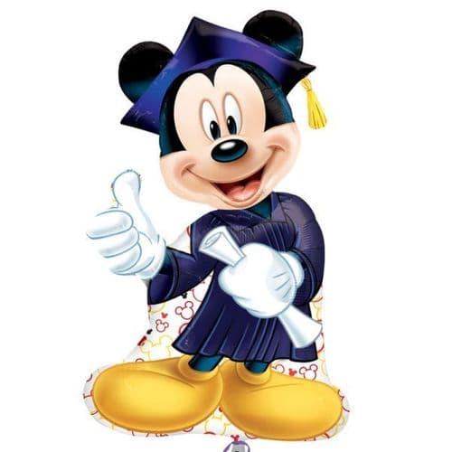 "Mickey Mouse Graduation SuperShape Foil Ballloon 23"" x 32"""