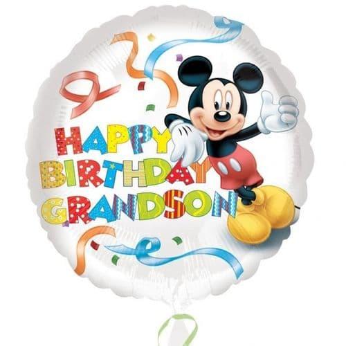 Mickey Mouse Happy Birthday Grandson Foil Balloon