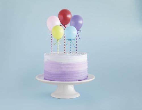 Mini Balloon Stick Cake Topper 5pc