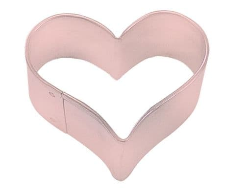 Mini Heart Poly-Resin Coated Cookie Cutter Pink