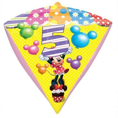 Minnie Mouse Age 5 Diamondz Foil Balloon
