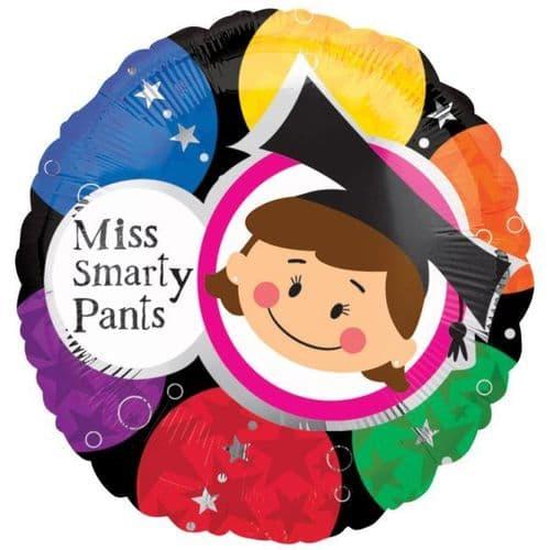 Miss Smarty Pants Foil Balloon