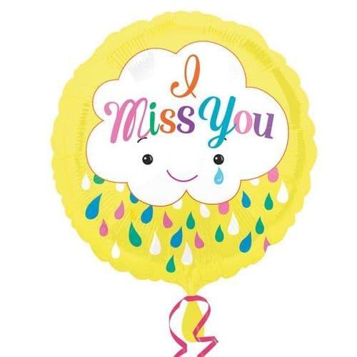 Miss You Cloud Foil Balloon