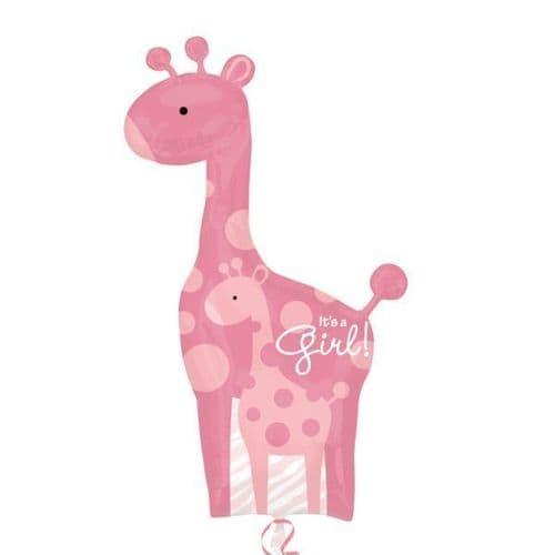 "Mom & Baby Pink Giraffes SuperShape 42"" x 35"""