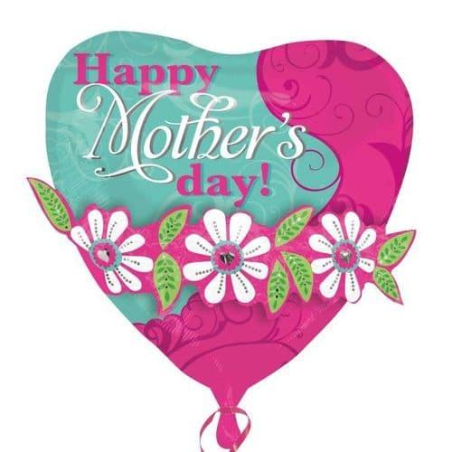 "Mother`s Day Garland Multi-Balloon XL 24"" x 24"""